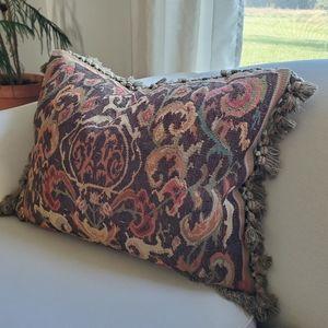 Gerry Nichol Aubusson Kilim Down Tassel Pillow